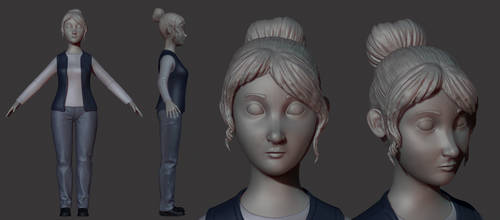WIP cashier  -Diploma Movie characters 2/3