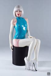 Turquoise and white latex 1 by okt0br