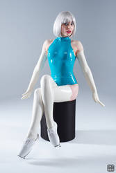 Turquoise and white latex 5 by okt0br