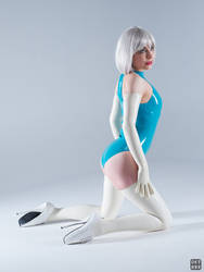 Turquoise and white latex 6 by okt0br