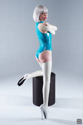 Turquoise and white latex 3 by okt0br