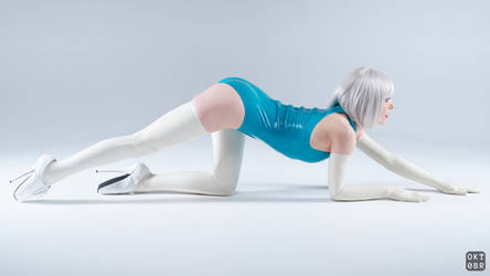 Turquoise and white latex 4 by okt0br