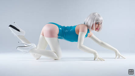 Turquoise and white latex 10 by okt0br