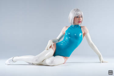 Turquoise and white latex 2 by okt0br