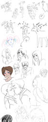 The 2nd half sketch dump by LittleKidsin