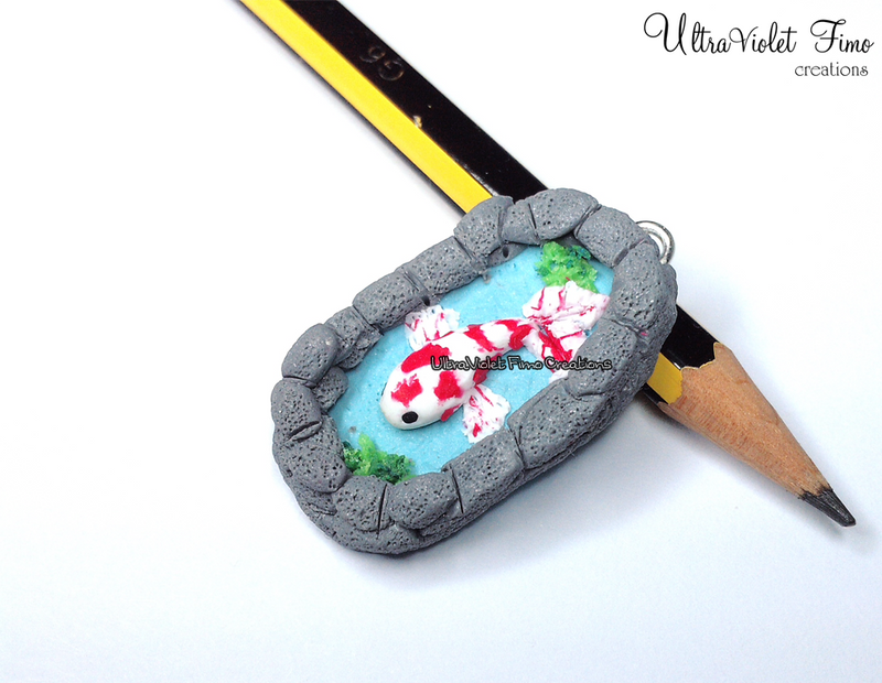 Polymer clay koi fish by ultravioletcreations on deviantart for Clay koi fish
