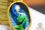 Polymer clay Tiny Mermaid