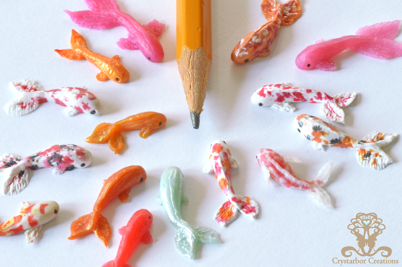 New tiny polymer clay fish by crystarbor on deviantart for Clay koi fish