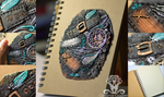 Polymer clay Steampunk journal cover