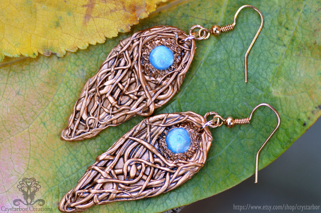 a7f7d73897096 Celtic Knot Earrings Polymer clay Jewelry by Crystarbor on DeviantArt