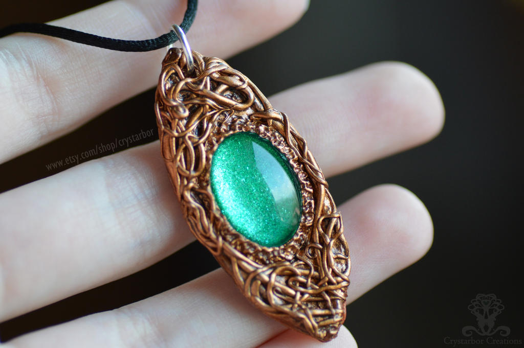 62ea98ce34b1c Magical Celtic Amulet Necklace (polymer clay) by Crystarbor on ...
