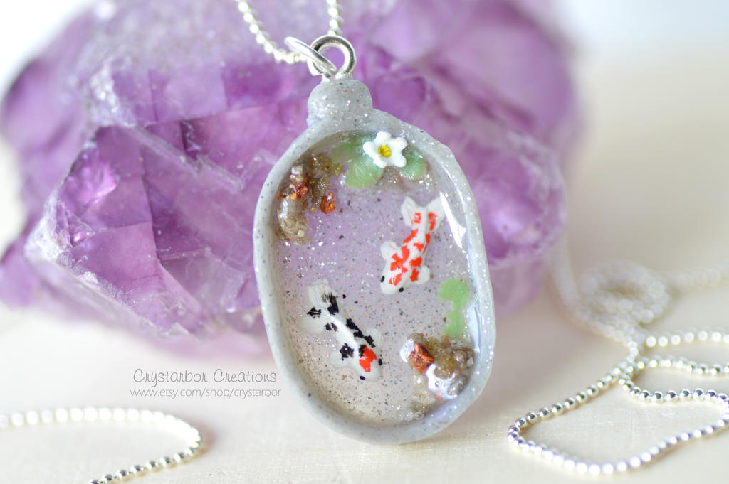 Japan koi fish necklace polymer clay by crystarbor on deviantart japan koi fish necklace polymer clay by crystarbor aloadofball Images