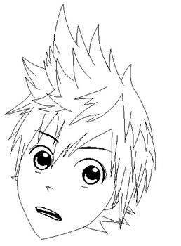 Roxas KH Manga style head