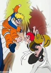 Naruto Vs Gaara by TheReaper93