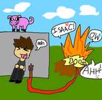 Isaac and his TNT (watch out people)