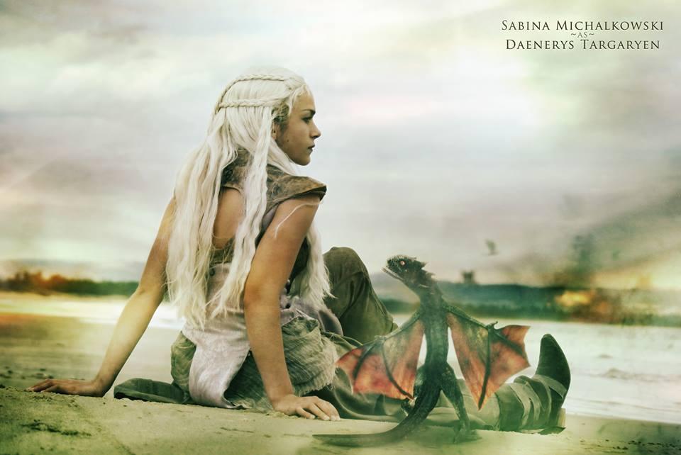 Daenerys Targaryen and Drogon by MikoDoesCosplay