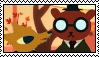 Night in the Woods: GreggxAngus Stamp by WinterFrostDragon