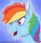 Rainbow Dash Headshot by WinterFrostDragon
