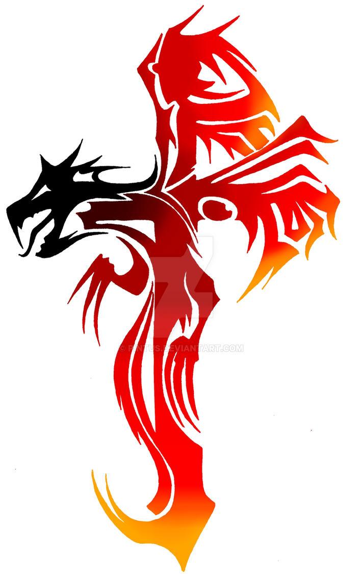dragon cross fire by pintus on deviantart. Black Bedroom Furniture Sets. Home Design Ideas
