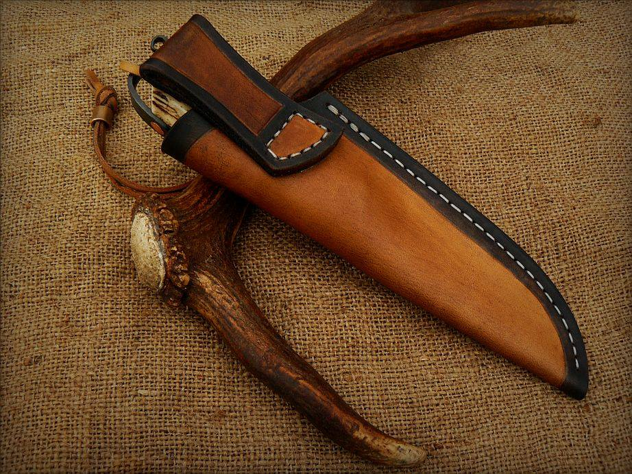 Fox leather sheath by PrzemoSremo