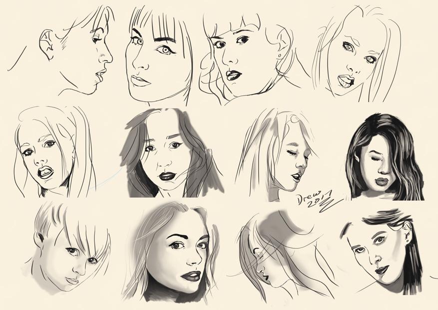 Faces by Drew-Waylander