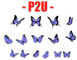 P2U  - Butterfly Lineart