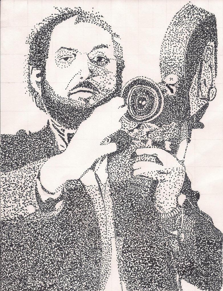 Stanley Kubrick - Stipple Art by Volts48
