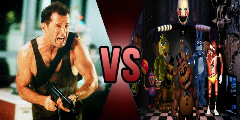 Death battle John McClane vs Fazbear Animatronics by Volts48