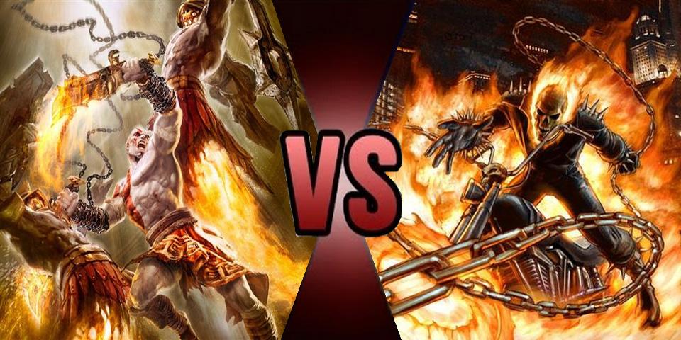 Death Battle Kratos vs Ghost Rider by Volts48
