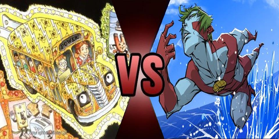 Death battle - Magic School Bus vs Captain Planet by Volts48