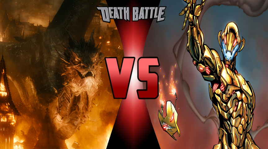 Death battle Smaug vs Ultron by Volts48
