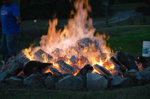 Huge Bonfire by LadyCarolineArtist