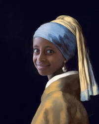 Ethiopian Girl with the Pearl Earring