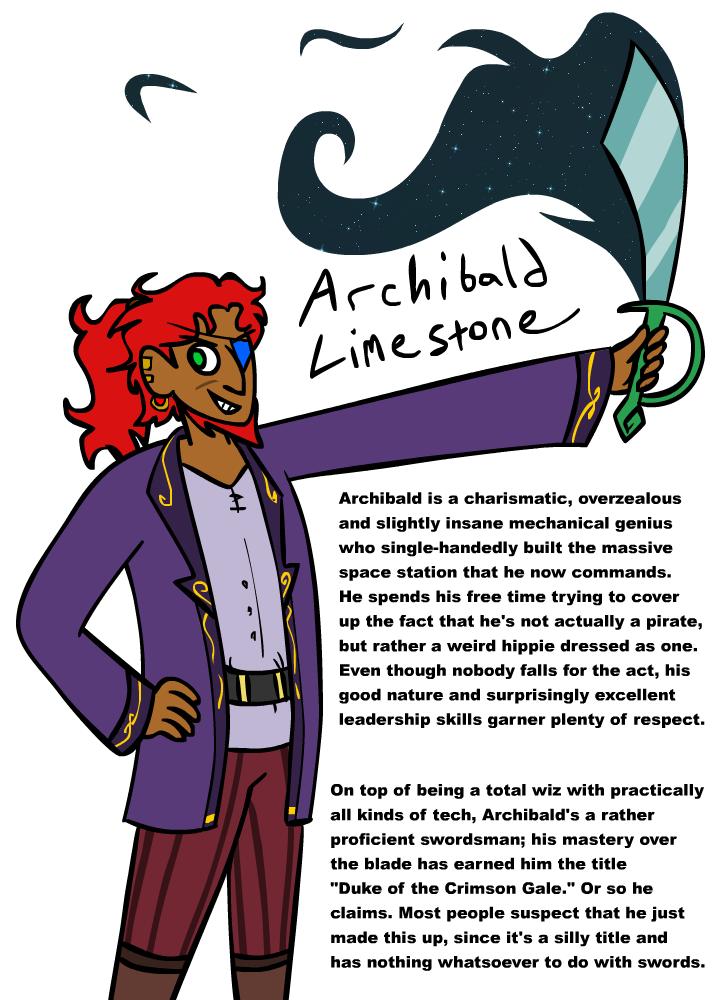 Archibald Limestone ref sheet by scribblespoon
