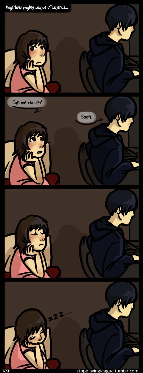 Gamer Girlfriend Comic League of Legends by h...