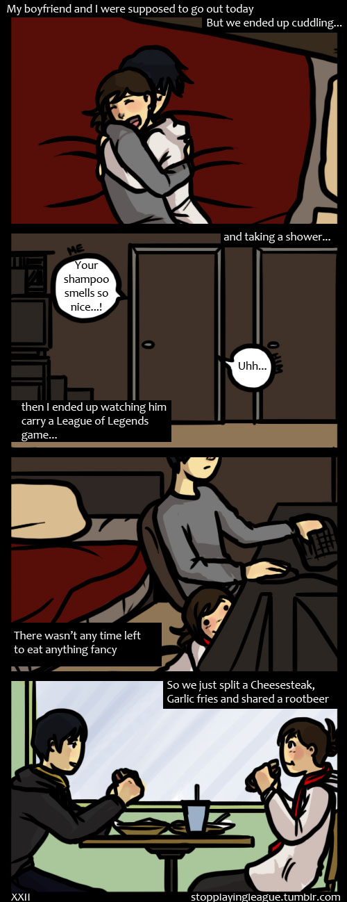 Gamer Girlfriend Comic Our Date pt. 2 by hPol...