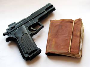 Gun And Journal Props