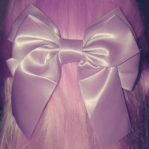 Pink bow...