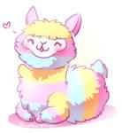 Rainbow Alpaca Fluff