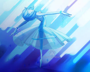 Blue Pearl by ShinePawArt