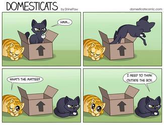 DomestiCats - Thinking by ShinePawArt