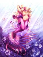 Purple mermaid by ShinePawArt