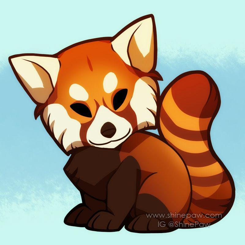 Red panda chibi by ShinePawArt