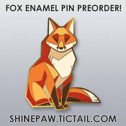 Fox Enamel Pin Preorder!
