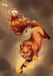 Fox spirit - commission by ShinePawArt