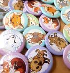 Fox pinback buttons