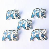 New Polar Bear Enamel Pins! by ShinePawArt
