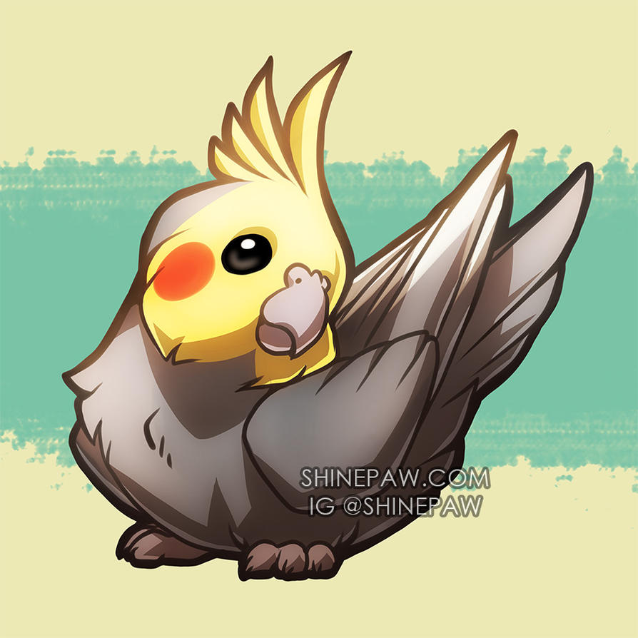 Cockatiel chibi by ShinePawArt