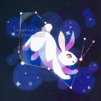 Celestial Bunny - Cosmic Critters by ShinePawArt
