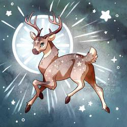 Galaxy Deer - Cosmic Critters by ShinePawArt